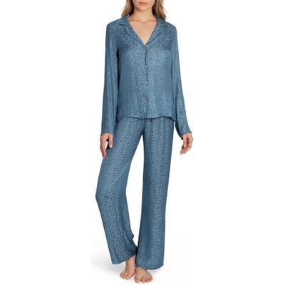 Midnight Bakery Cropped Pajamas, Blue