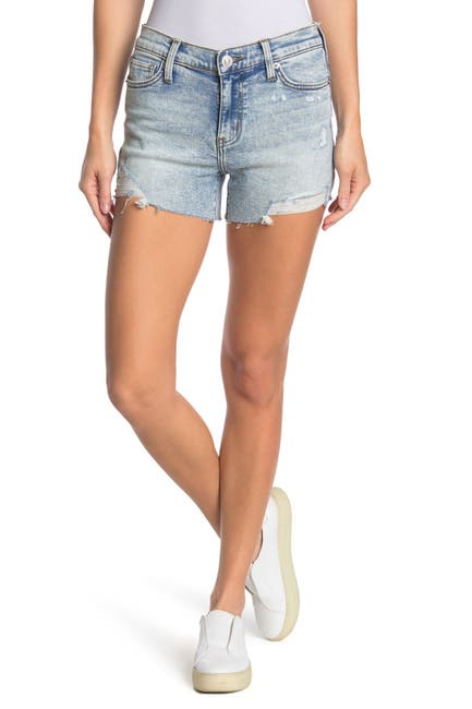 Image of HUDSON Jeans Gracie Ripped Cutoff Denim Shorts