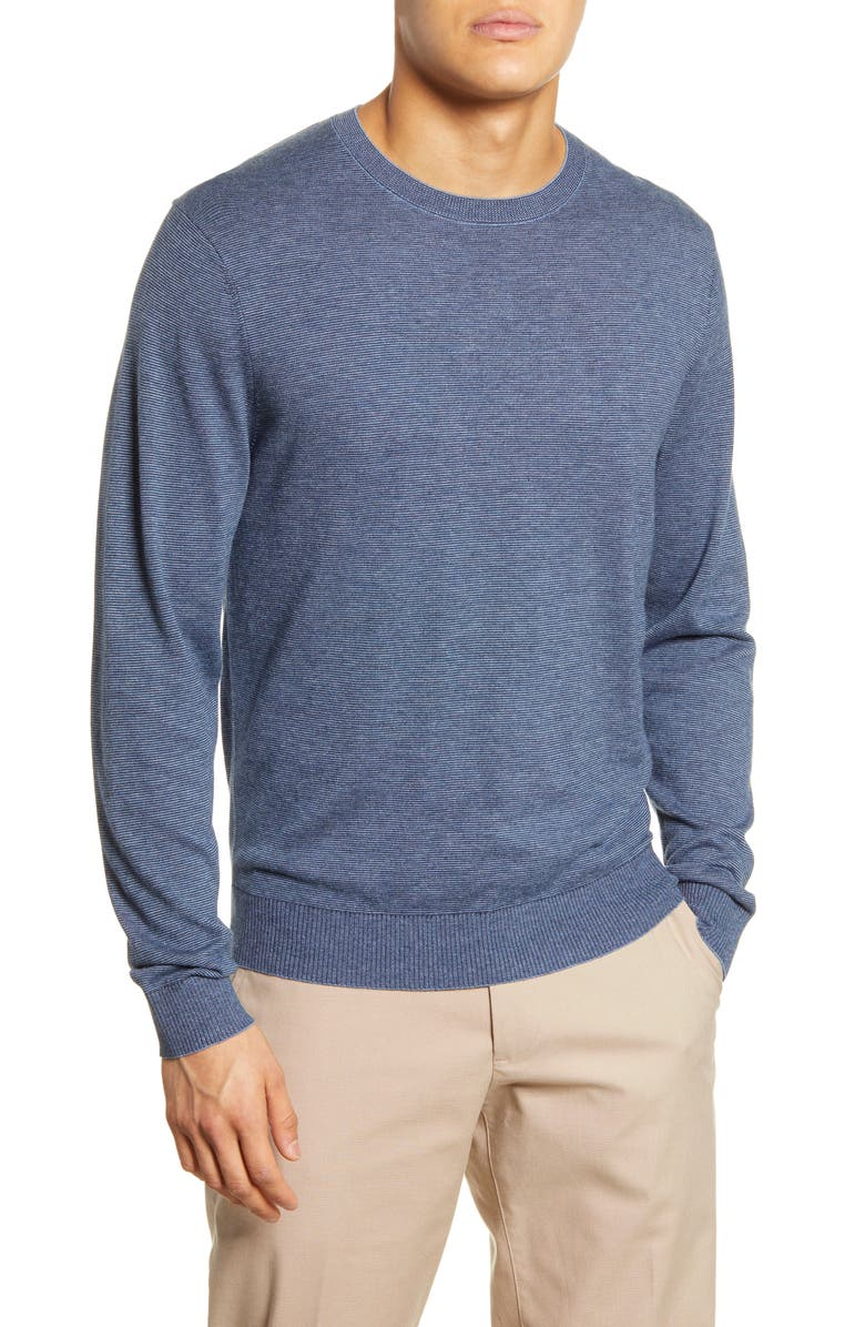 BONOBOS Lightweight Stripe Sweater, Main, color, TIDE POOL/ CHIC NAVY