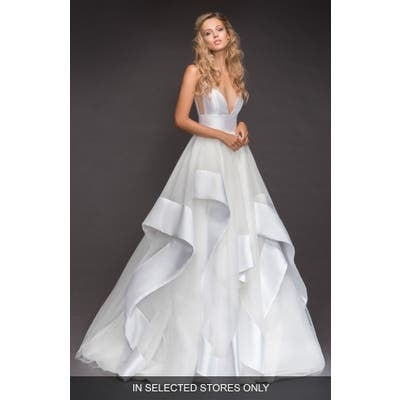 Hayley Paige Andi Sweetheart Mikado & Tulle Ballgown, Size IN STORE ONLY - Ivory
