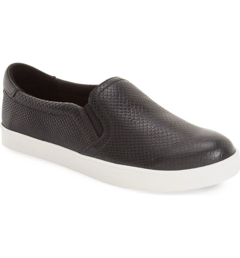 DR. SCHOLL'S Original Collection 'Scout' Slip On Sneaker, Main, color, NEW BLACK LEATHER