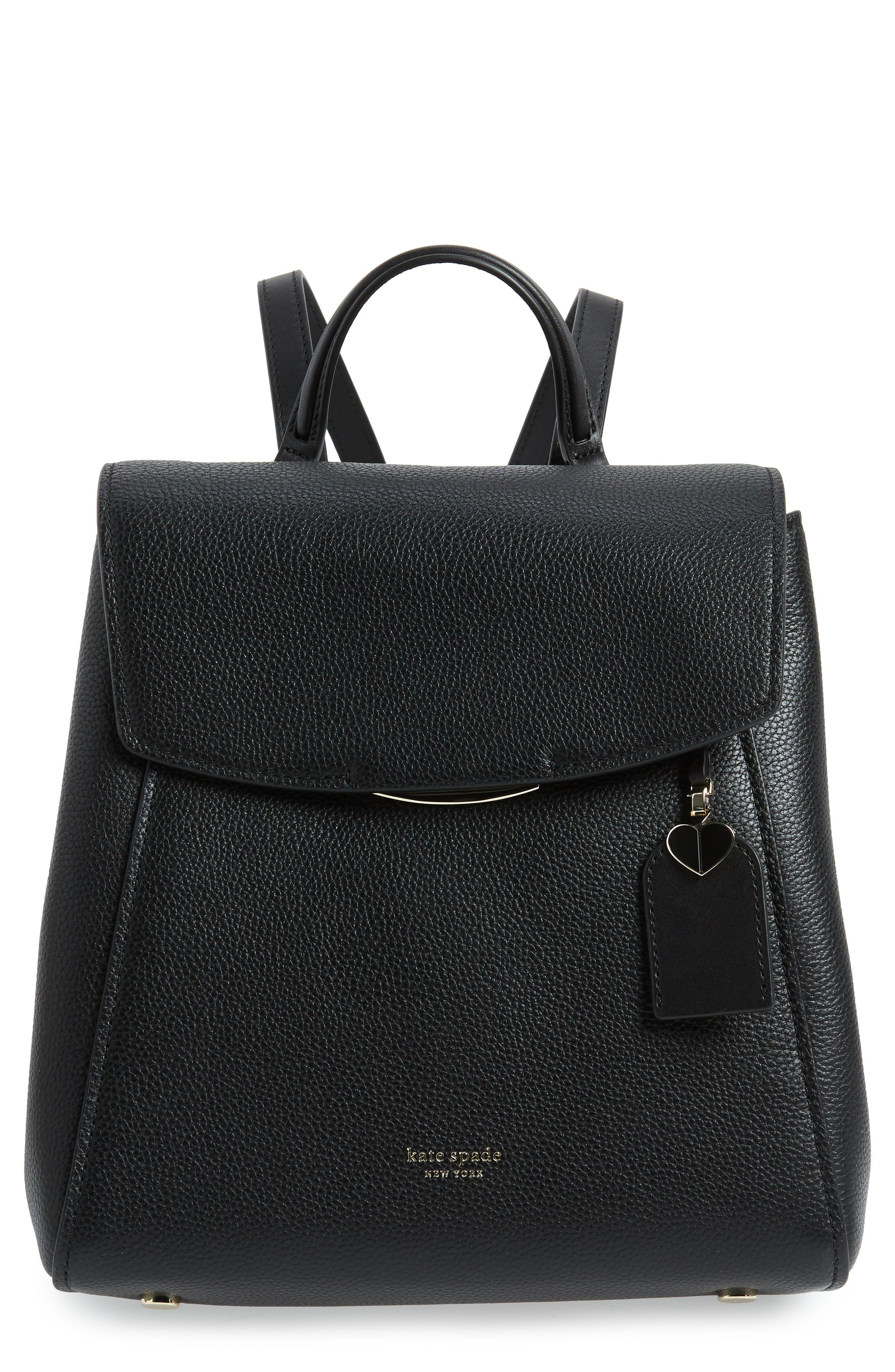 ,                             medium grace leather backpack,                             Main thumbnail 1, color,                             BLACK