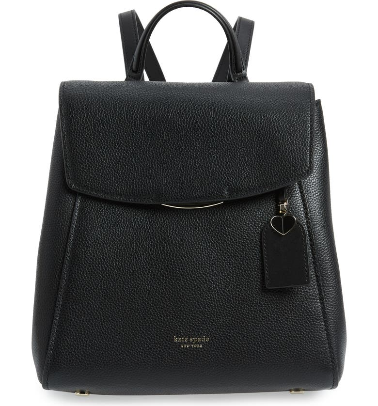 KATE SPADE NEW YORK medium grace leather backpack, Main, color, BLACK