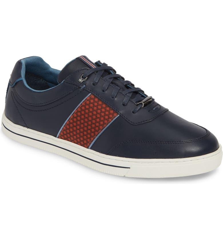 TED BAKER LONDON Seylen Sneaker, Main, color, DARK BLUE LEATHER