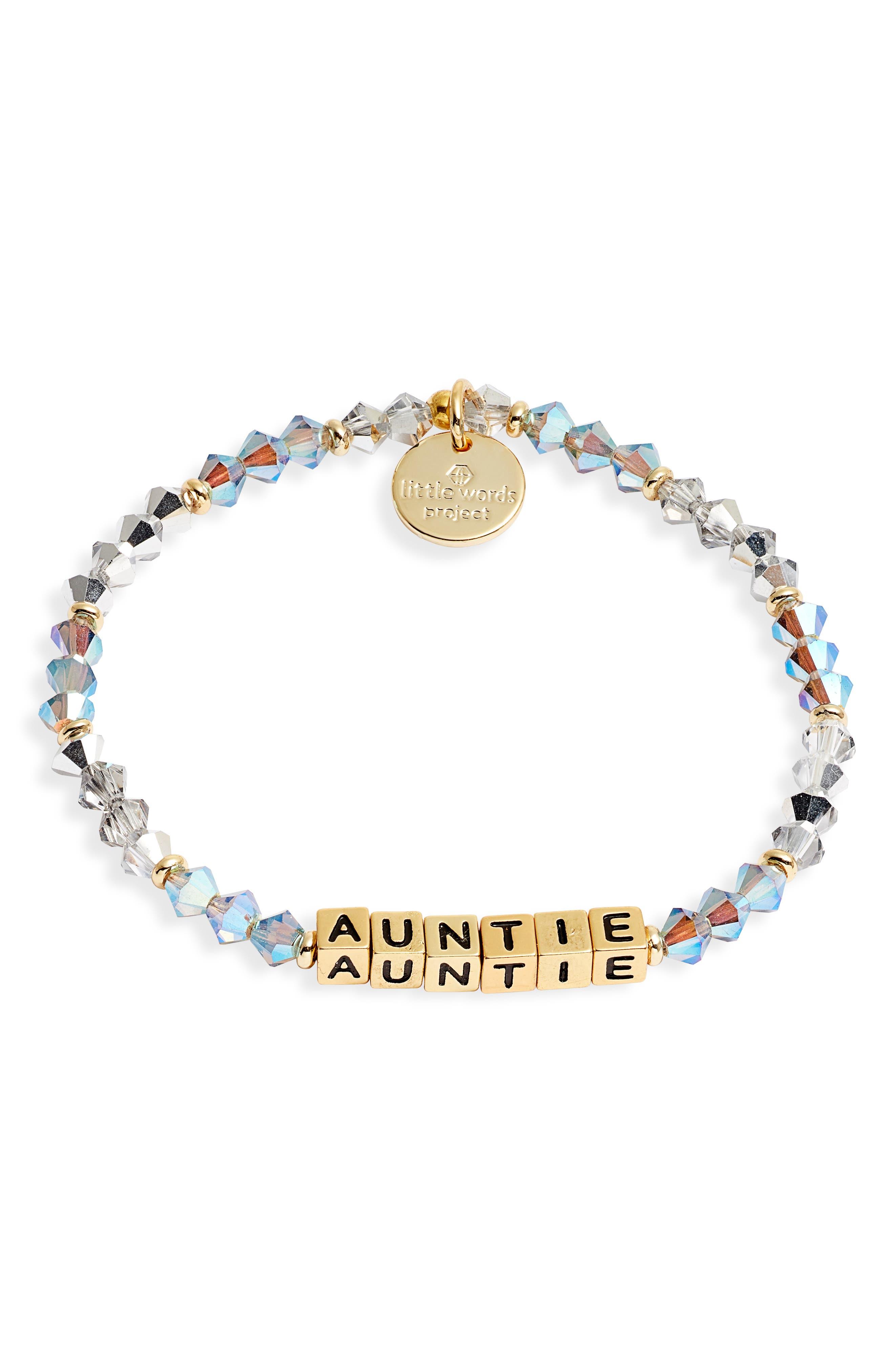Auntie Beaded Stretch Bracelet