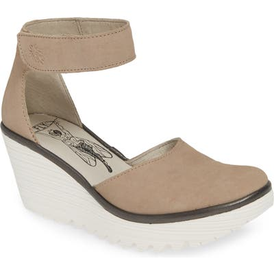 Fly London Yand Wedge Pump - Beige