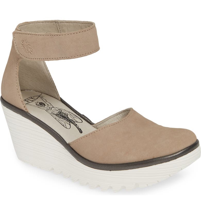 FLY LONDON Yand Wedge Pump, Main, color, CONCRETE LEATHER