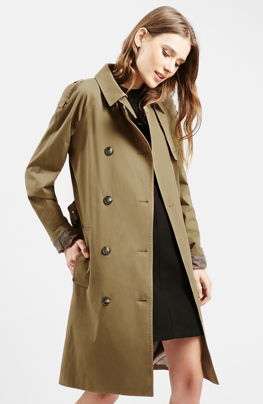 ,                             Double Breasted Cotton Trench,                             Main thumbnail 5, color,                             300