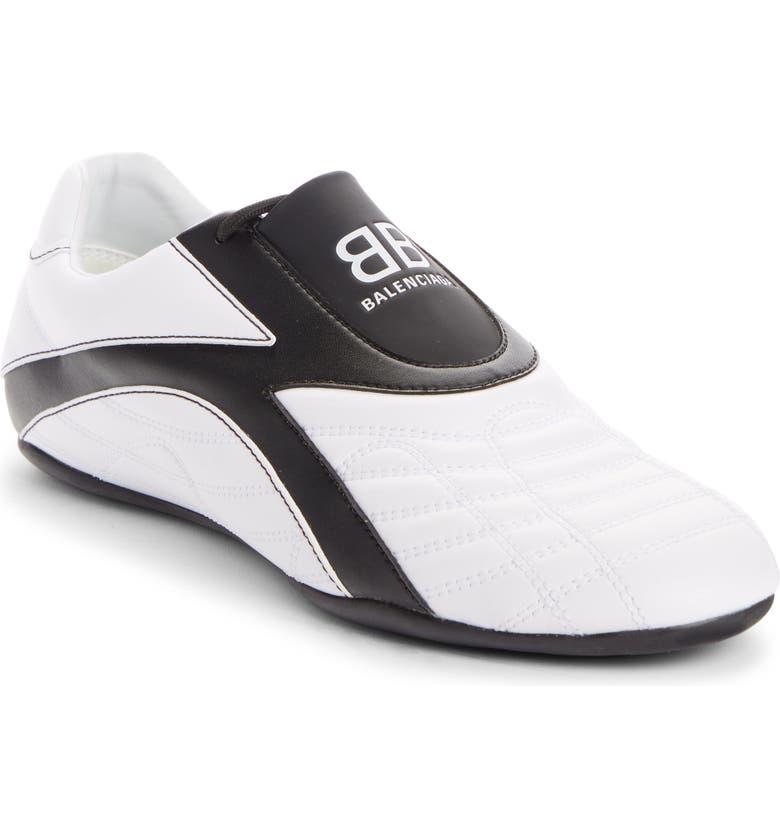 BALENCIAGA Zen Sneaker, Main, color, WHITE/ BLACK