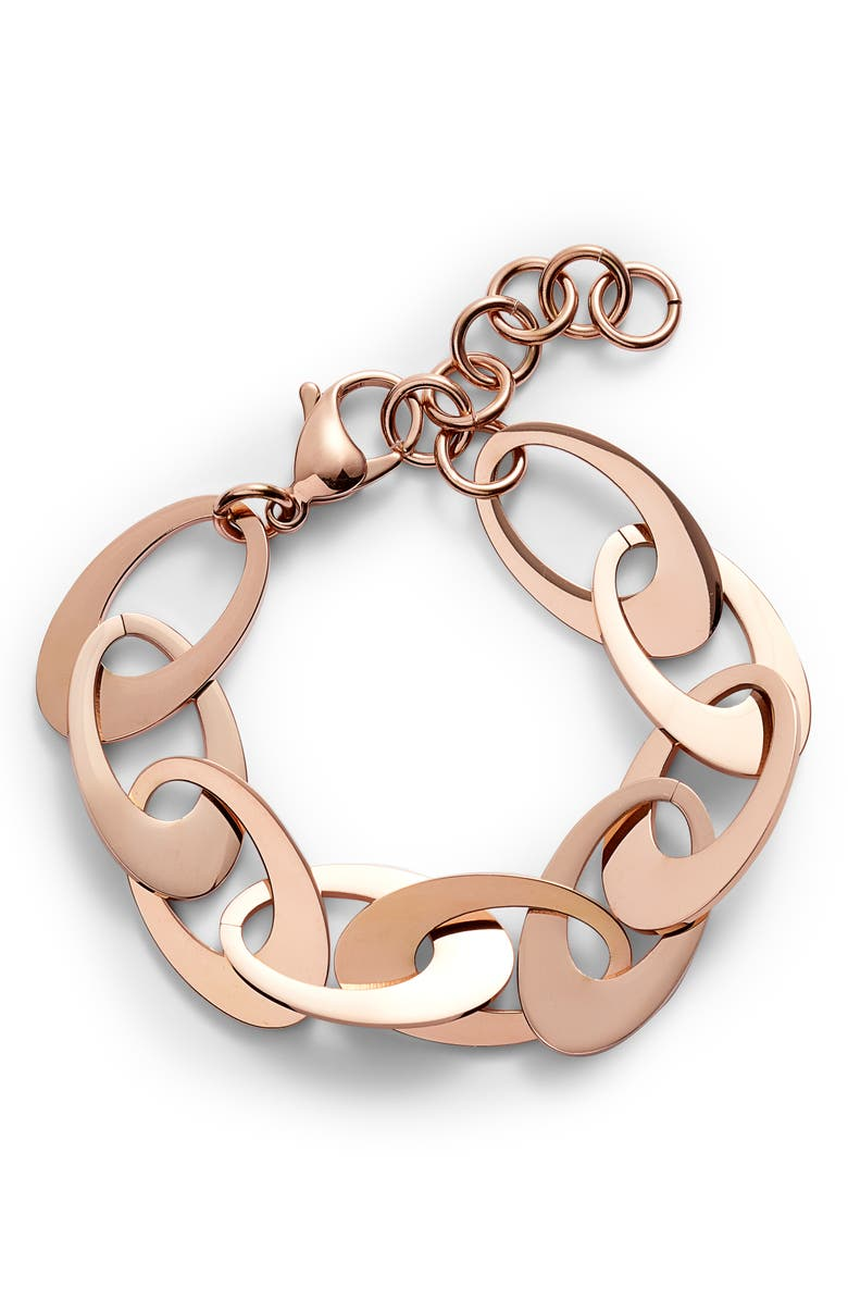 KNOTTY Flat Disk Bracelet, Main, color, ROSE GOLD