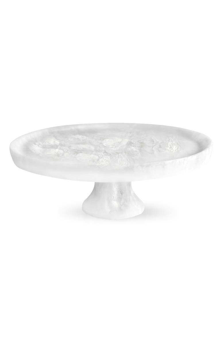 NASHI HOME Cake Plate, Main, color, WHITE SWIRL