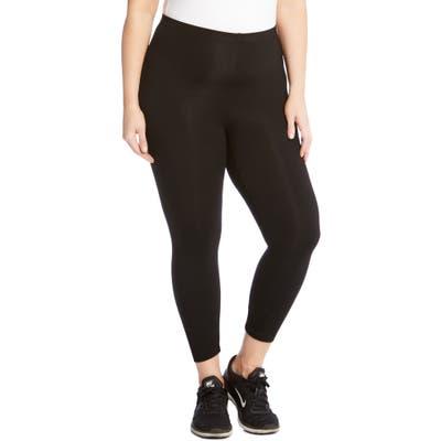 Plus Size Karen Kane Crop Leggings, Black
