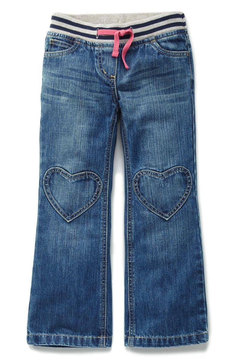 MINI BODEN Heart Patch Pants, Main, color, 450