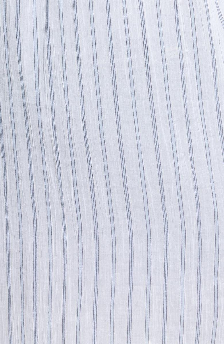 TREASURE & BOND Stripe Woven Tunic, Main, color, BLUE- WHITE LARCH STRIPE