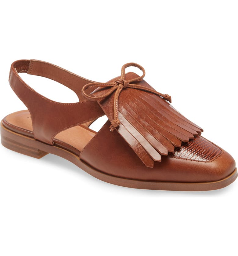 JEFFREY CAMPBELL Oxbridge Slingback Loafer, Main, color, TAN TAN LIZARD