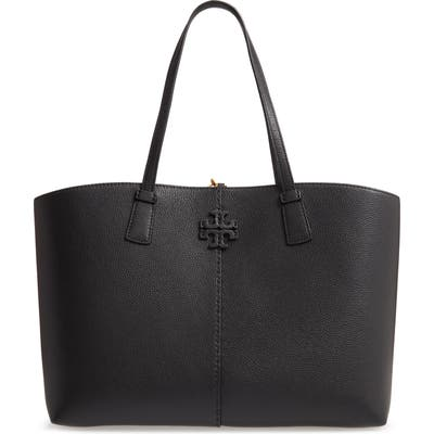 Tory Burch Mcgraw Leather Tote - Black