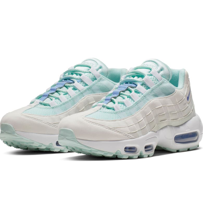 NIKE Air Max 95 Running Shoe, Main, color, TEAL TINT/ ROYAL/ WHITE/ GHOST
