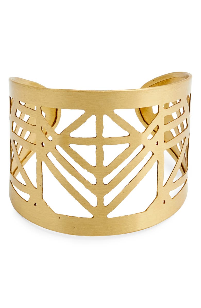 TEN79LA Filigree Cuff, Main, color, GOLD