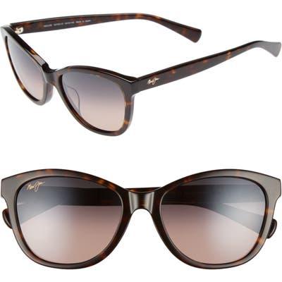 Maui Jim Canna 5m Polarized Cat Eye Sunglasses - Dark Tortoise/ Maui Rose