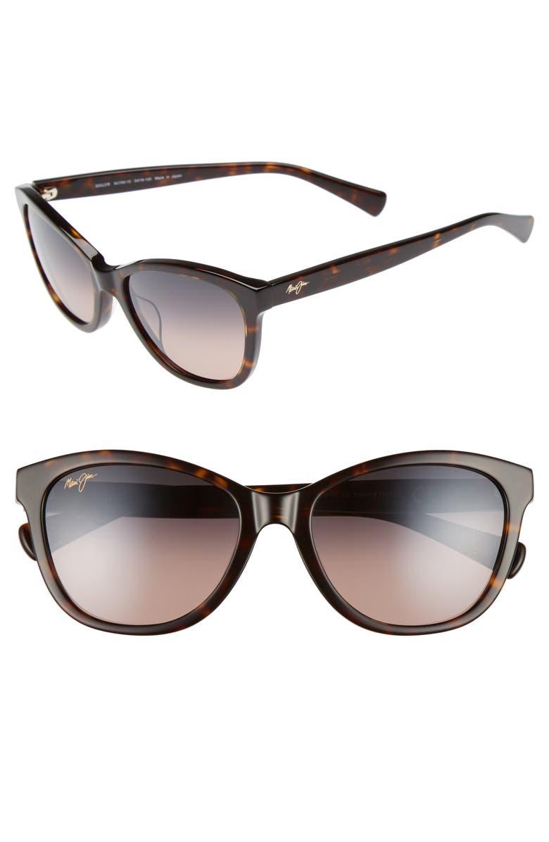 f6caf70abc94 Canna 54mm Polarized Cat Eye Sunglasses, Main, color, DARK TORTOISE/ MAUI  ROSE