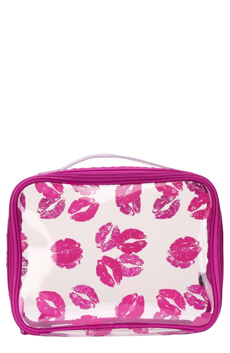 STEPH&CO . 'Berry Kiss' Travel Cosmetics Case, Main, color, 000