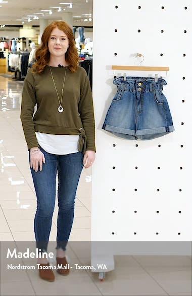 Hayley Paperbag Waist Denim Shorts, sales video thumbnail