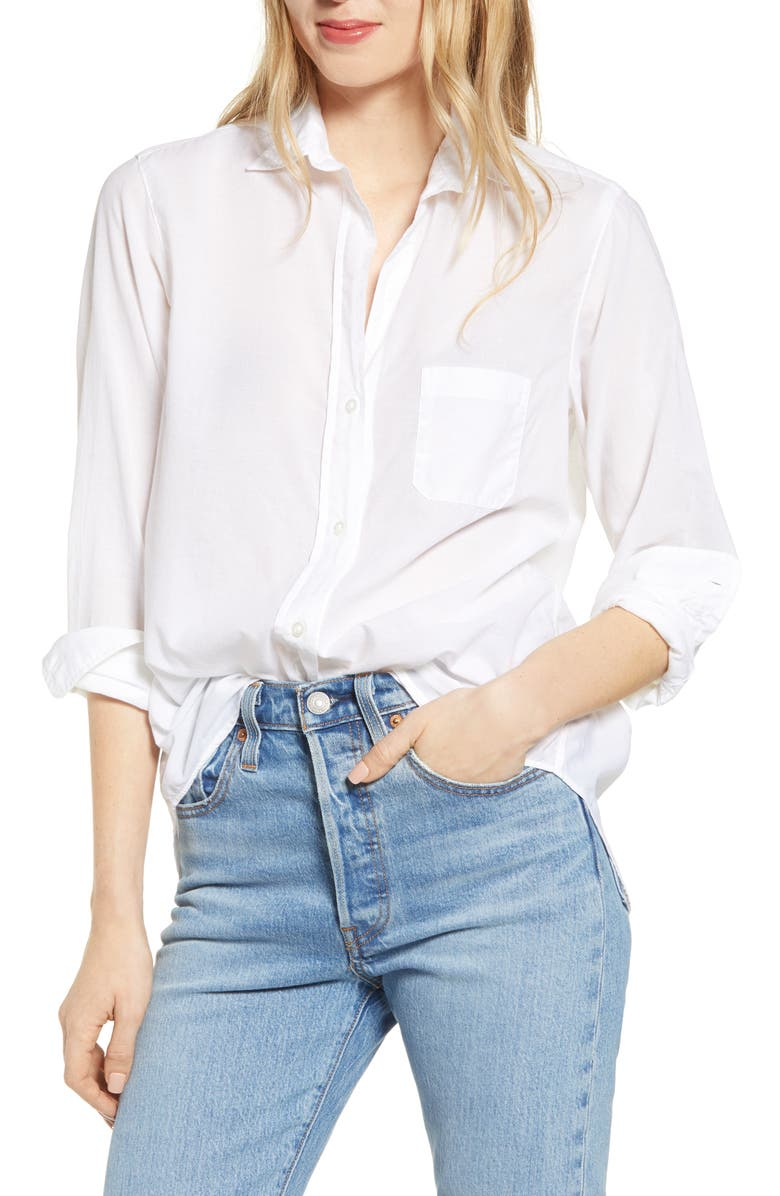 GRAYSON The Hero Tissue Cotton Button-Up Shirt, Main, color, 100