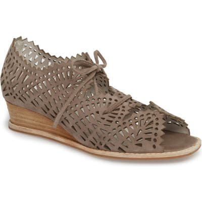 Jeffrey Campbell Espejo Lace-Up Wedge, Brown