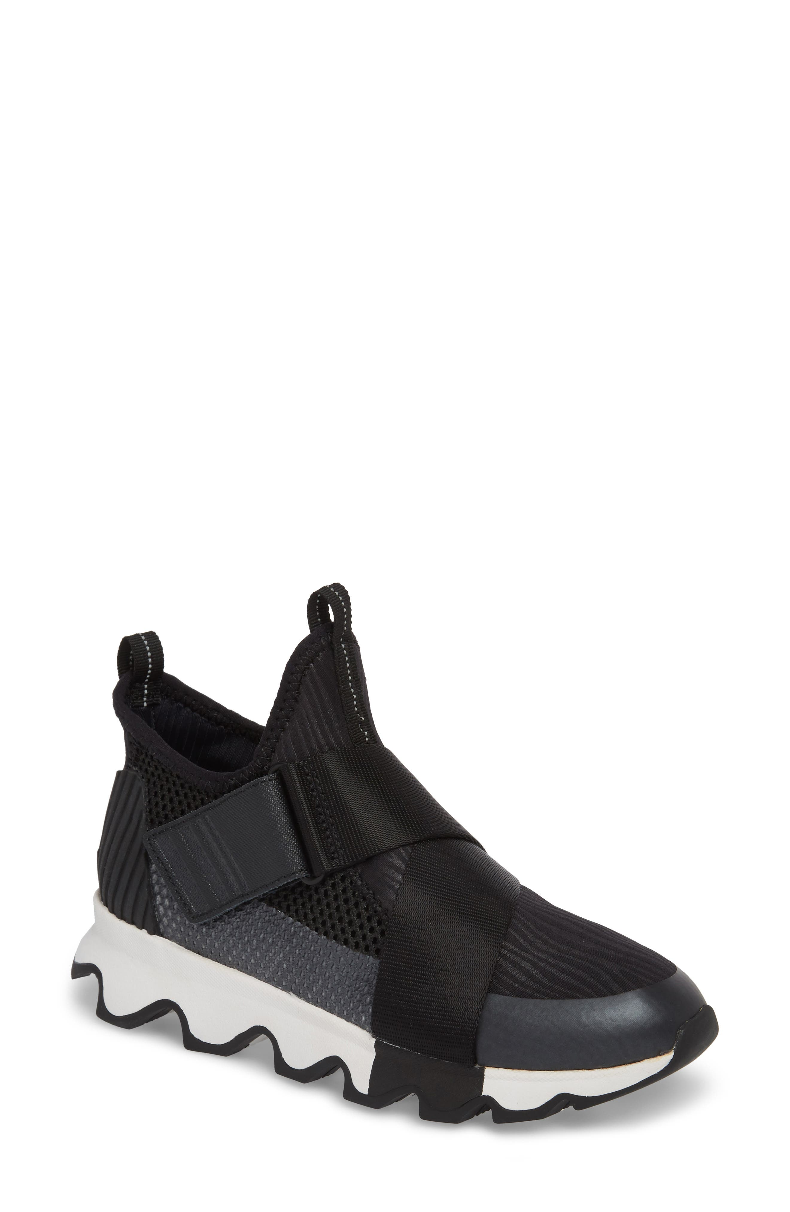 Sorel Kinetic Sneak High Top Sneaker, Black