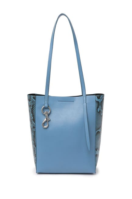 Image of Rebecca Minkoff Stella Leather Snakeskin Print Small Soft Tote