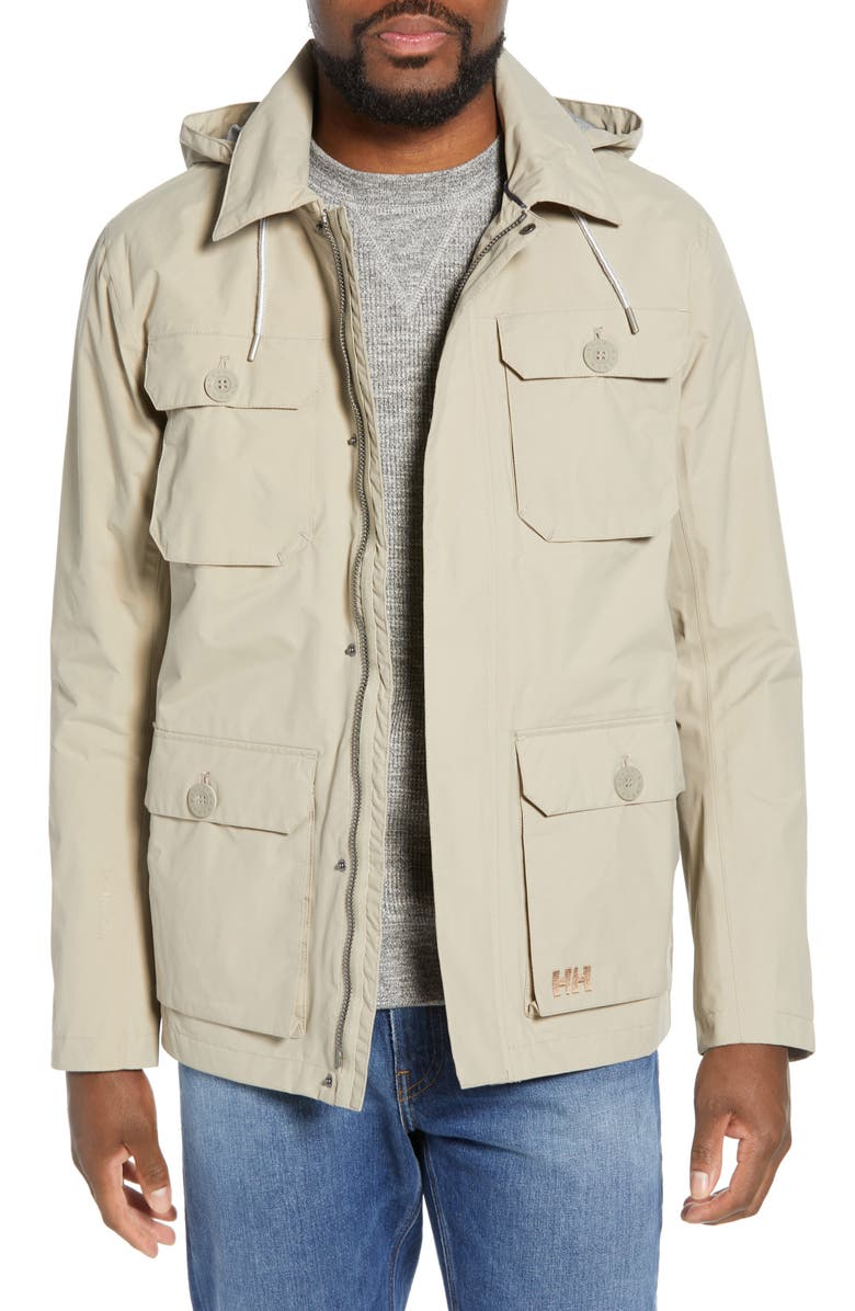 HELLY HANSEN Kobe Waterproof Helly Tech<sup>®</sup> Field Jacket, Main, color, 020