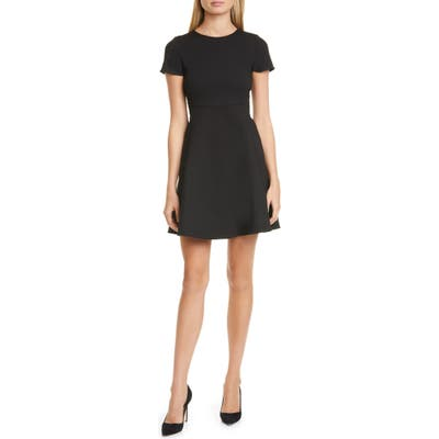 Emporio Armani Fit & Flare Dress, US / 48 IT - Black