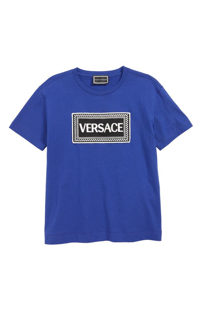 VERSACE Logo T-Shirt, Main, color, 401