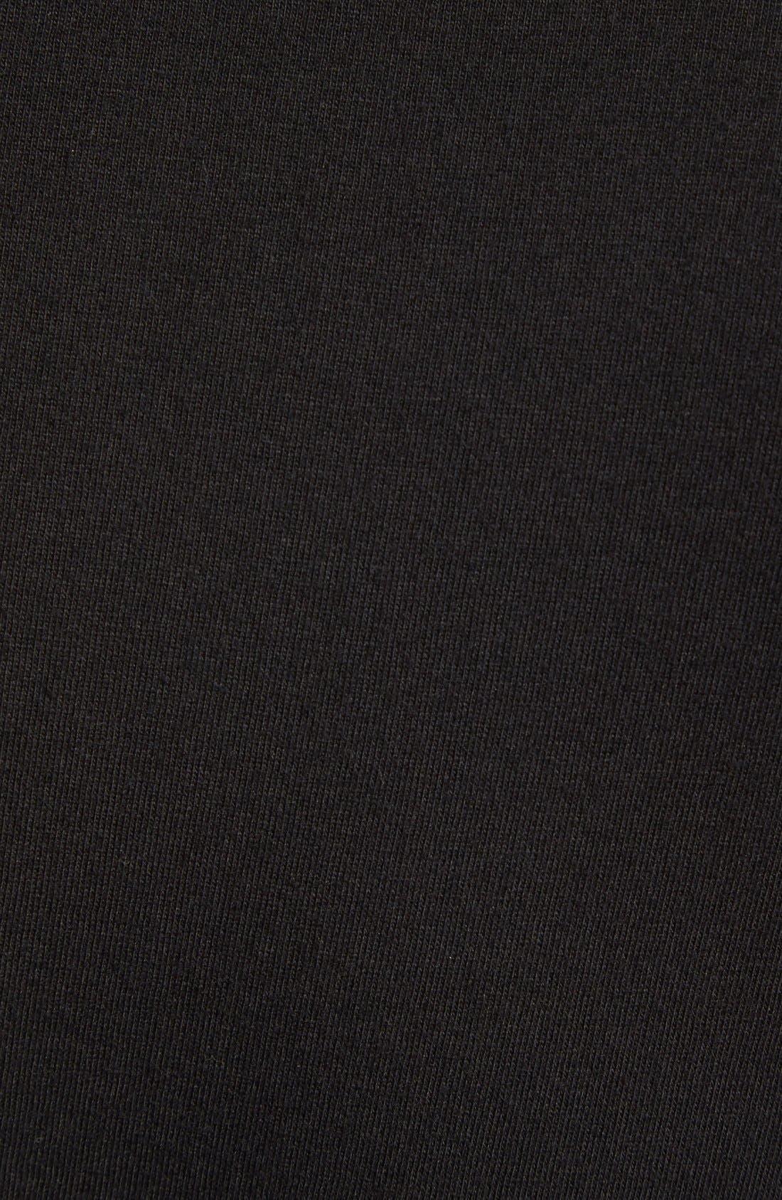 ,                             3-Pack Cotton T-Shirt,                             Alternate thumbnail 4, color,                             BLACK
