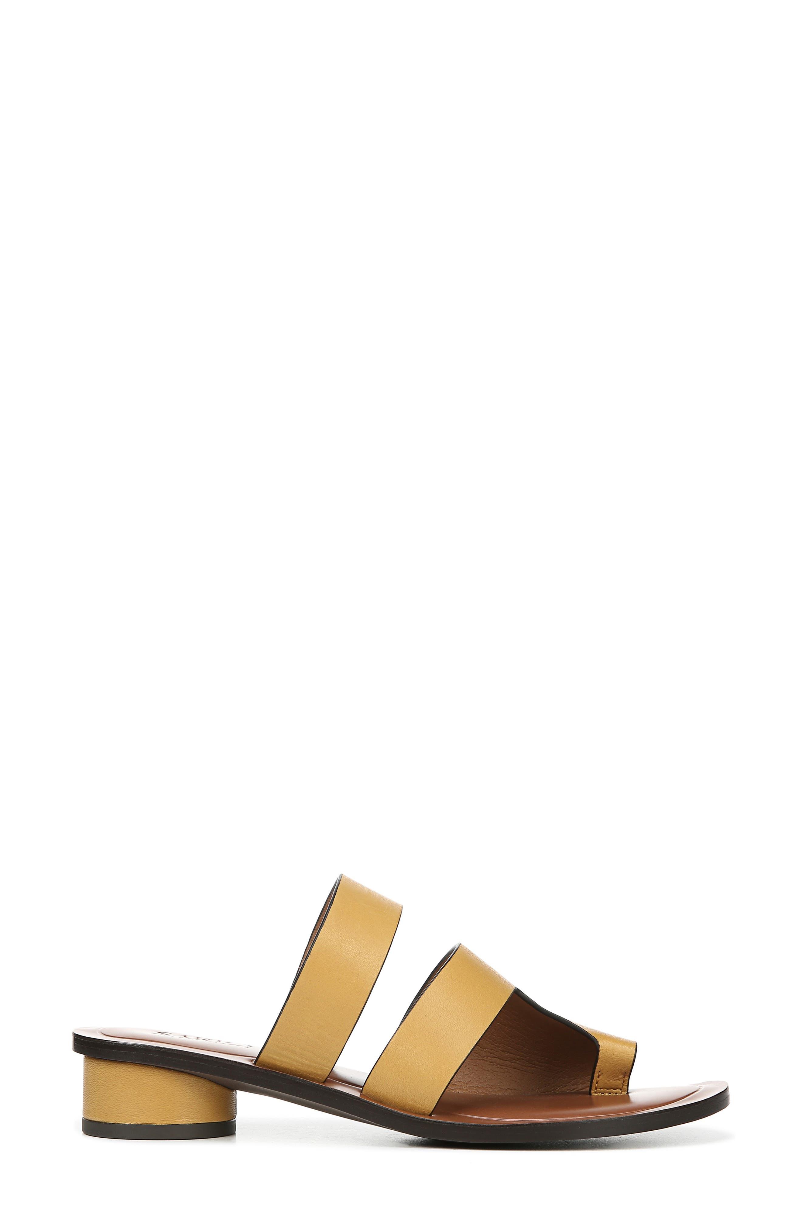 ,                             Trixie Slide Sandal,                             Alternate thumbnail 3, color,                             YELLOW LEATHER