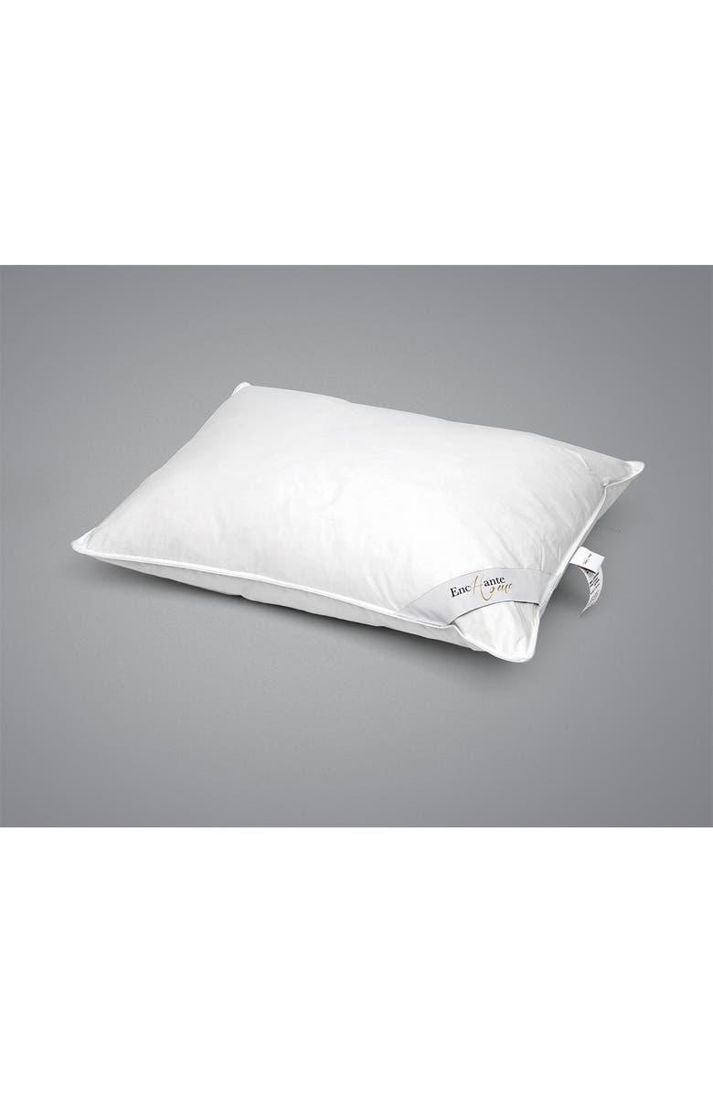 ENCHANTE HOME Luxury European Down Firm Density King Size Feather Pillow - White, Main, color, WHITE