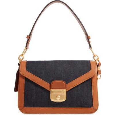 Longchamp Mademoiselle Canvas & Leather Crossbody Bag - Blue