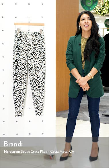 Leopard Print Jogger Pants, sales video thumbnail