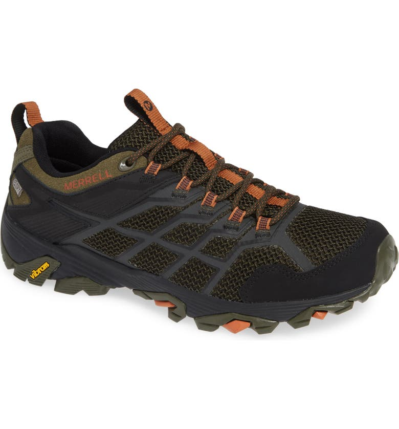 MERRELL Moab FST 2 Waterproof Hiking Shoe, Main, color, OLIVE/ ADOBE