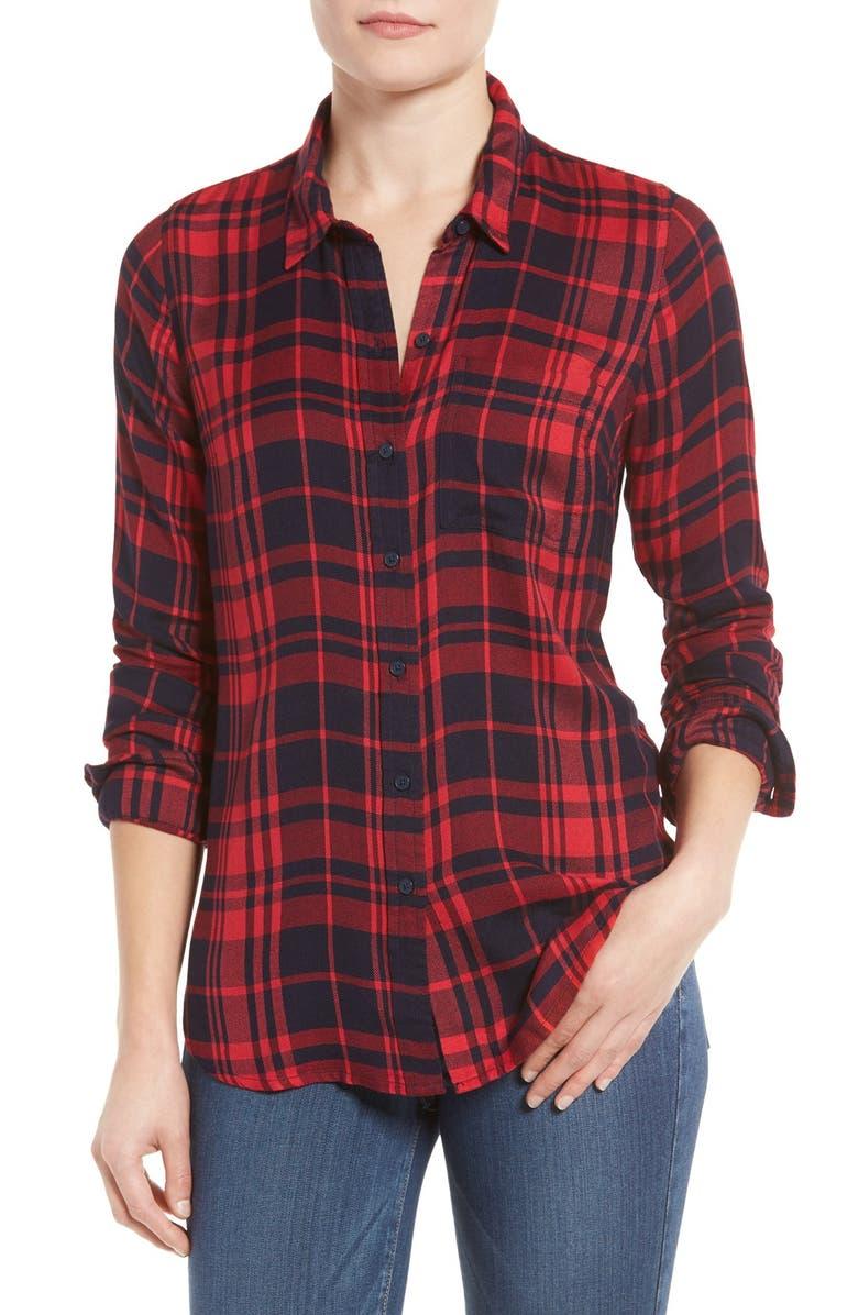 LUCKY BRAND Plaid Shirt, Main, color, 400