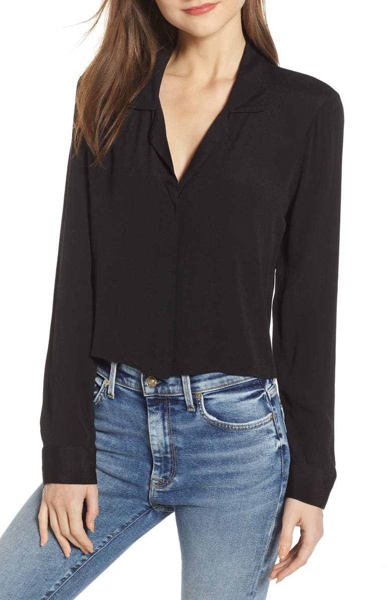 SOCIALITE Easy Button Front Top, Main, color, BLACK