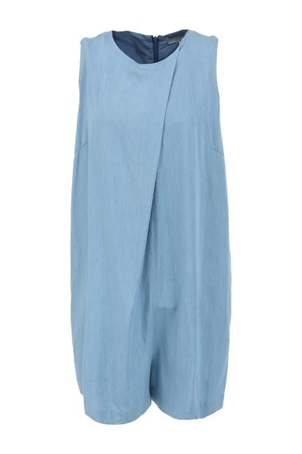 Image of FRNCH Chambray Sleeveless Romper