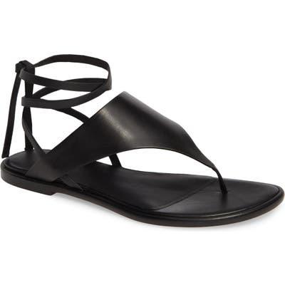 Vince Eastwood V-Strap Wraparound Sandal- Black