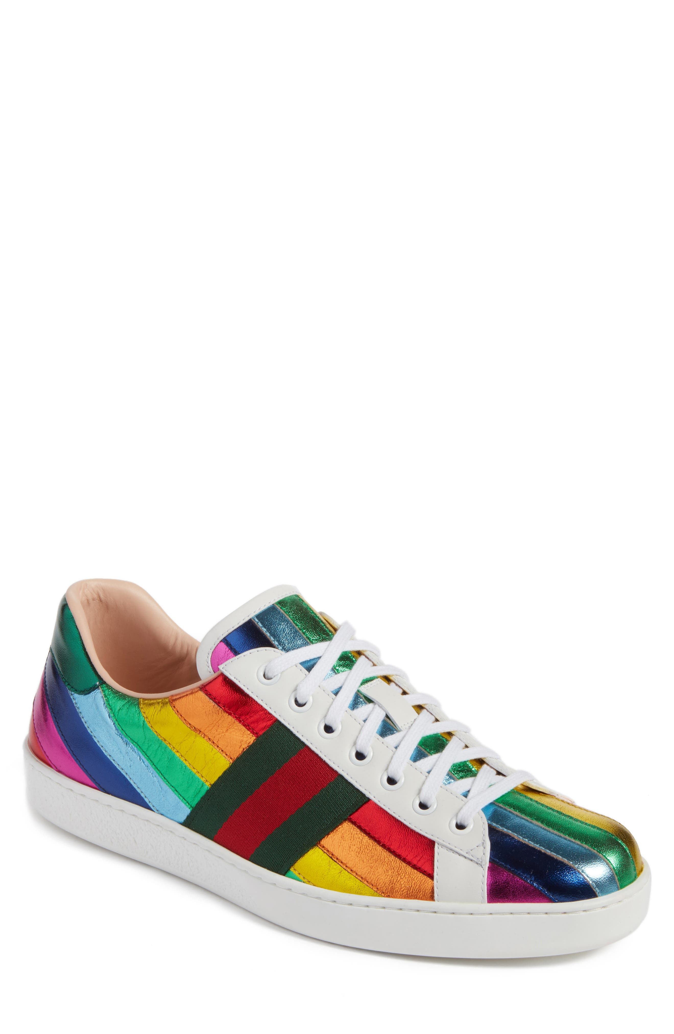 Gucci New Ace Rainbow Sneaker (Men