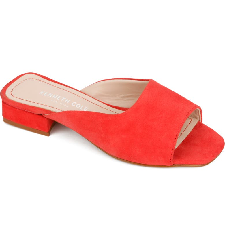 KENNETH COLE NEW YORK Emy Slide Sandal, Main, color, CORAL SUEDE