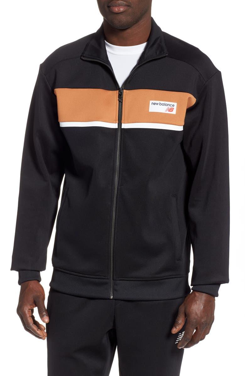 NEW BALANCE Athletics Track Jacket, Main, color, BROWN SUGAR