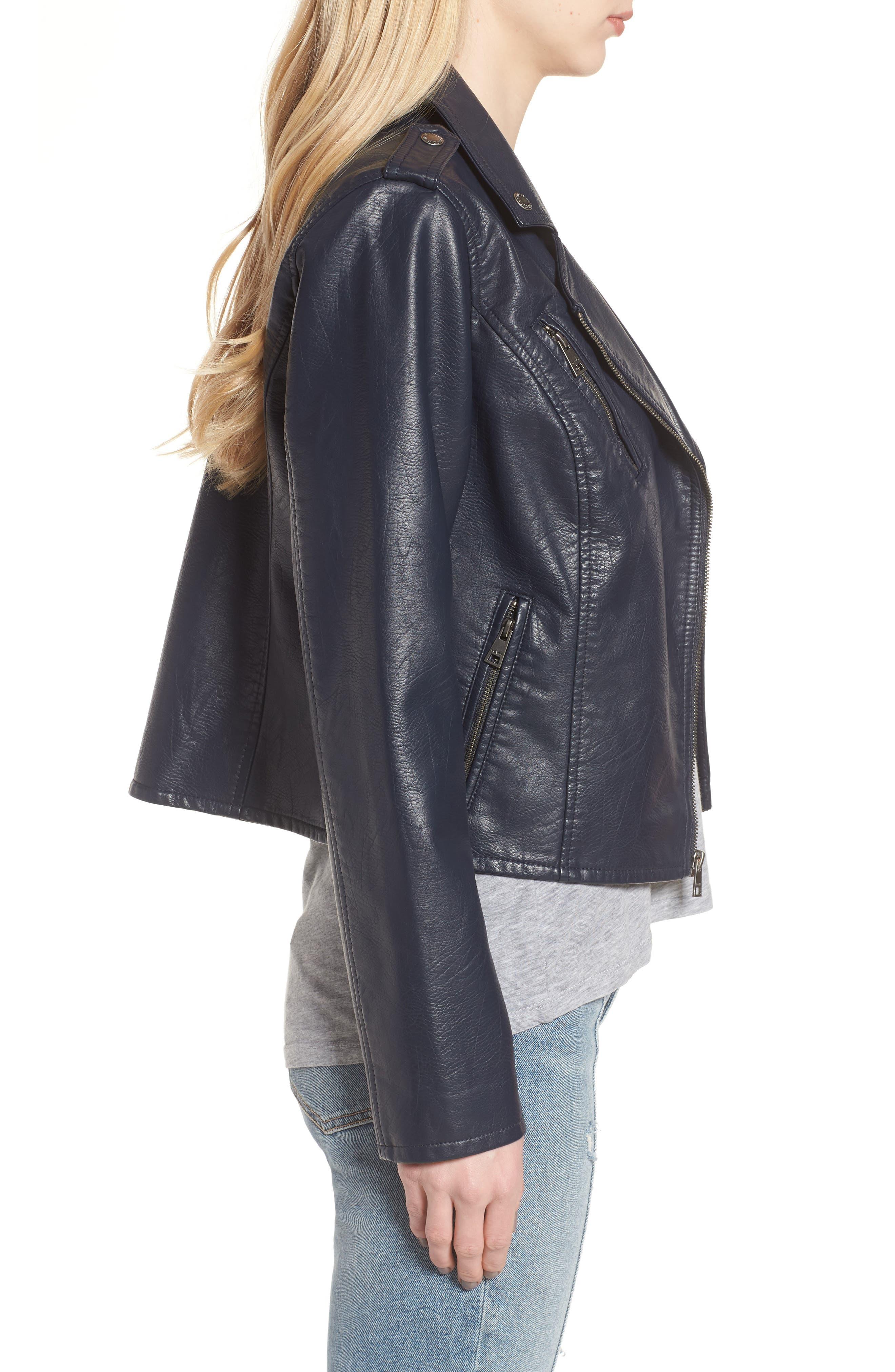 ,                             Faux Leather Moto Jacket,                             Alternate thumbnail 10, color,                             410