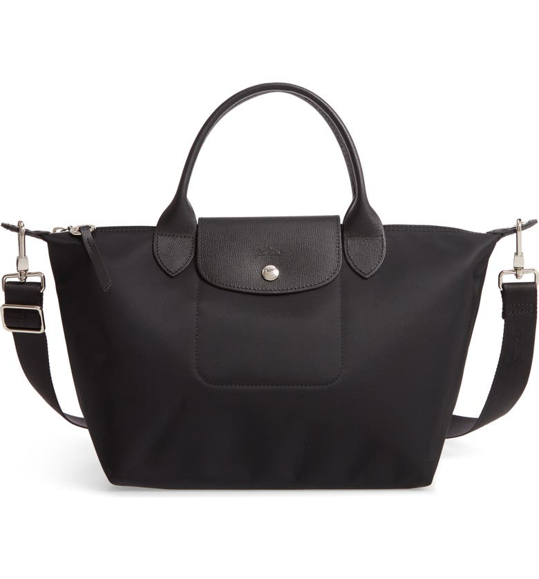 LONGCHAMP Small Le Pliage Néo Nylon Tote, Main, color, BLACK