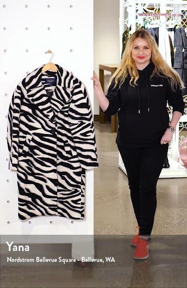Water Repellent Zebra Print Coat, sales video thumbnail