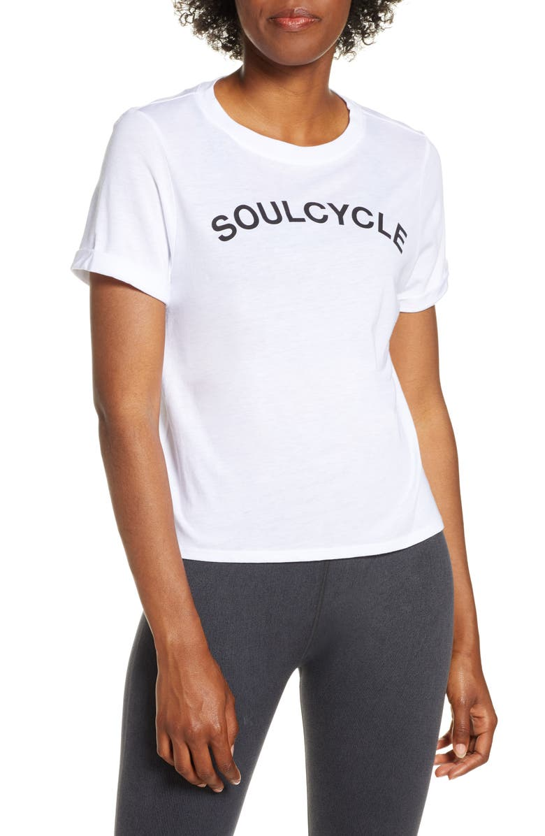 SOUL BY SOULCYCLE Core Roll Sleeve Tee, Main, color, 100